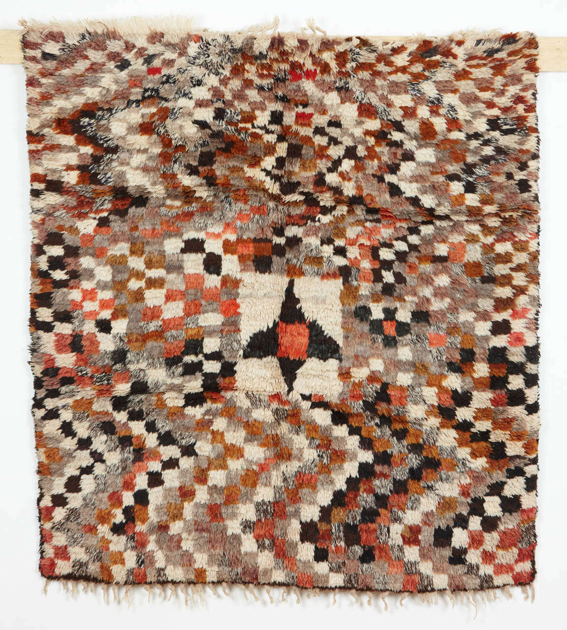 Checkerboard Rug: Abstract Checkerboard Berber Rug For Sale At 1stdibs