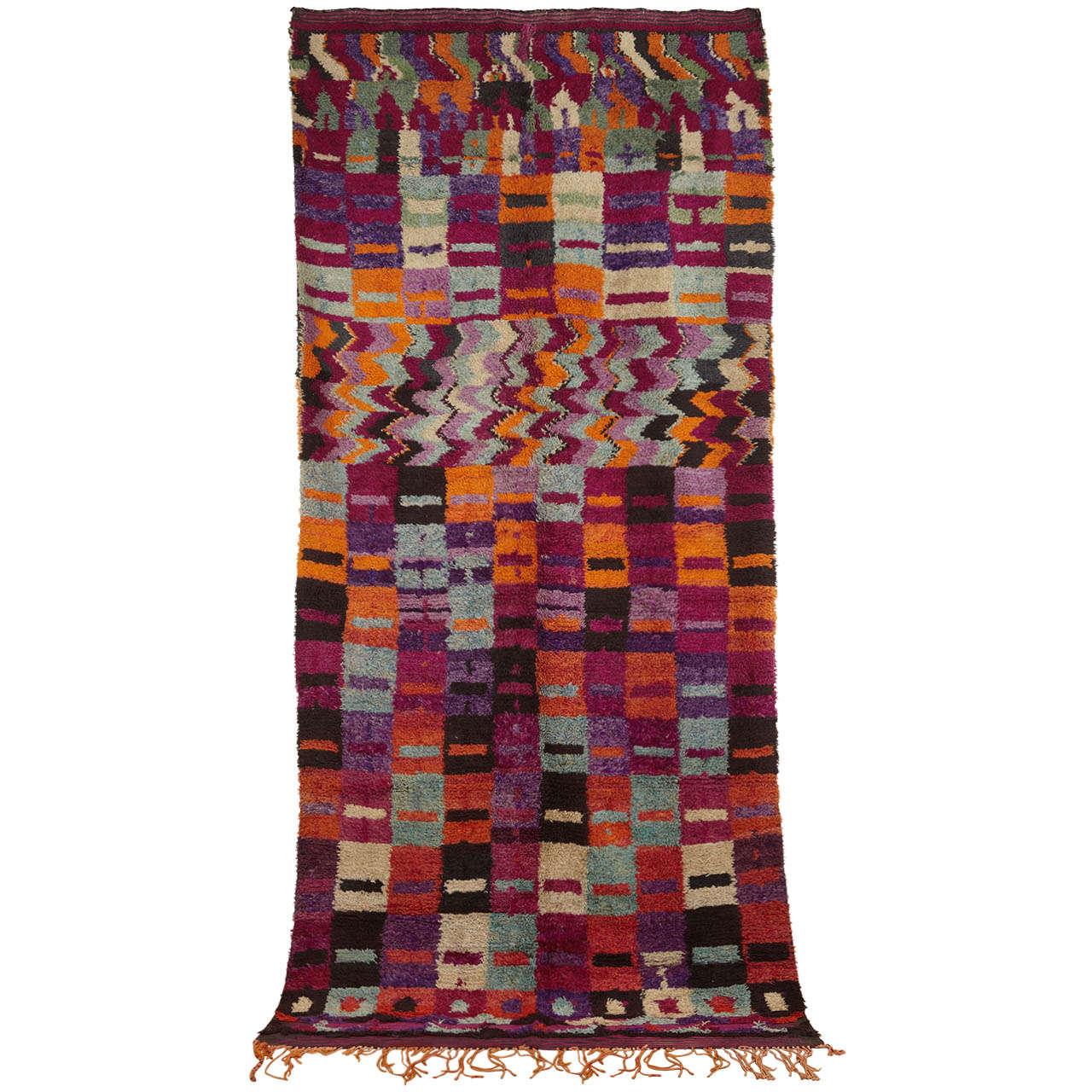 Eastern Moroccan Vintage Abstract Berber Rug