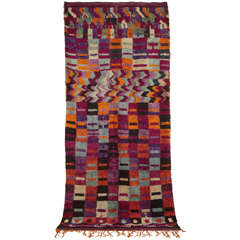 Eastern Moroccan Vintage Abstract Berber Rug