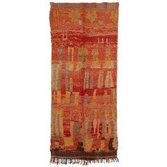Vintage Abstract Rehamna Moroccan Berber Rug
