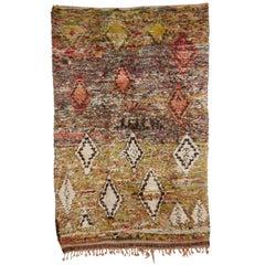 Rare Green Background Beni Ouarain Carpet