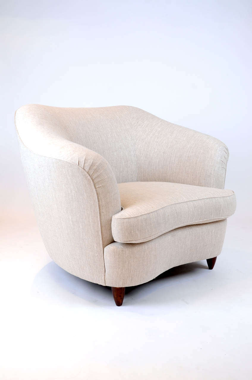Pair of large armchairs by gio ponti at stdibs