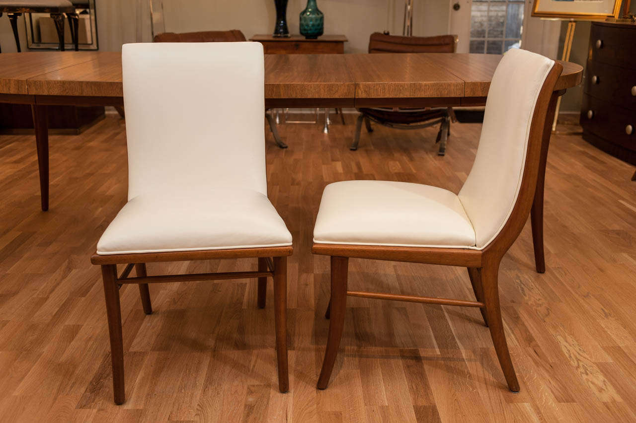 T h robsjohn gibbings set of 8 chairs with dining table for Designer 8 furniture
