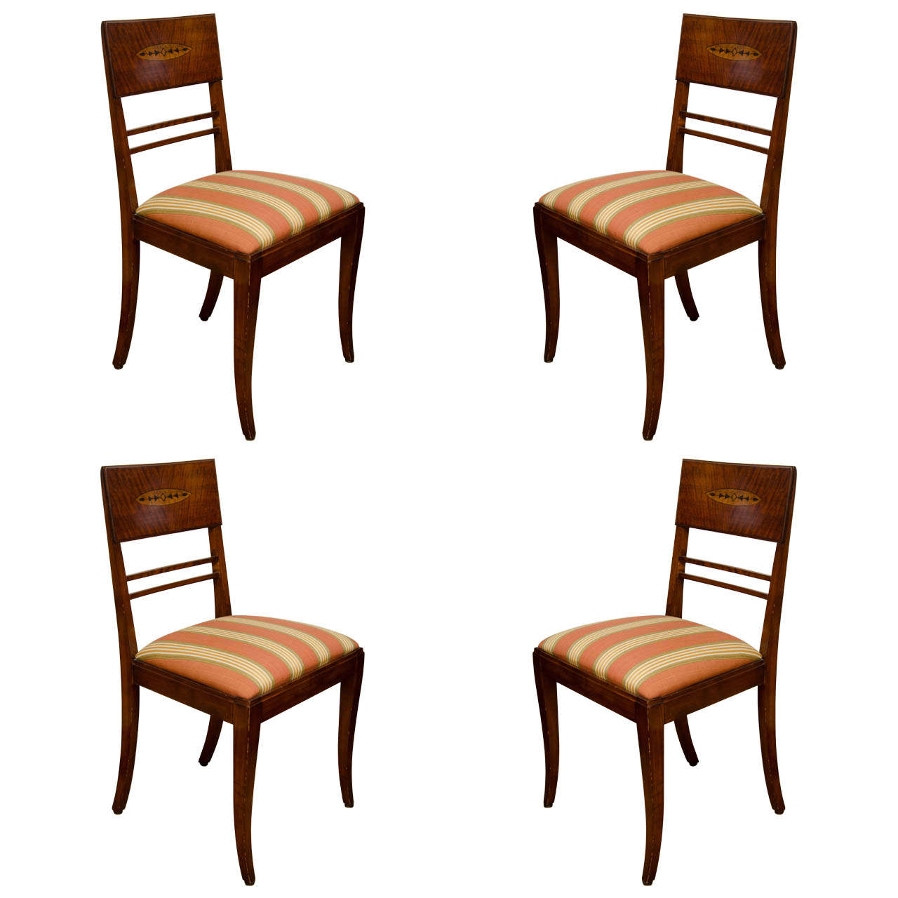 Set of Four Art Deco Side Chairs