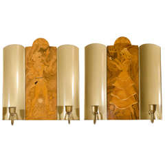 Mjolby Intarsia Sconces