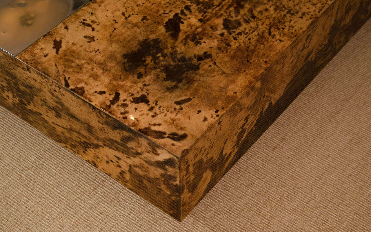 Aldo Tura Opening Square Lacquer Parchment Cocktail Table 7