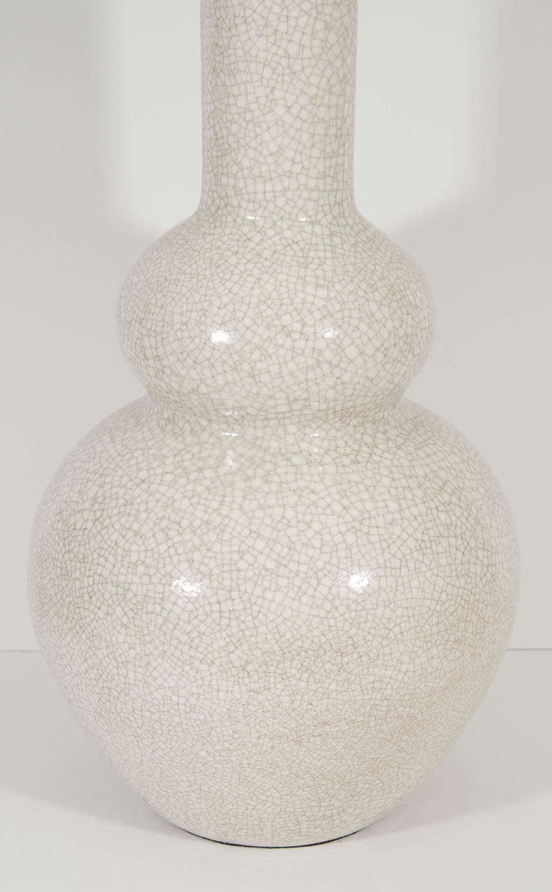 Large White Crackle Lamp 3