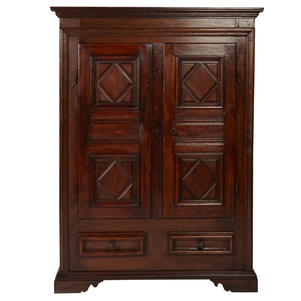 17th century italian walnut and oak cabinet cupboard at for Italian cabinets