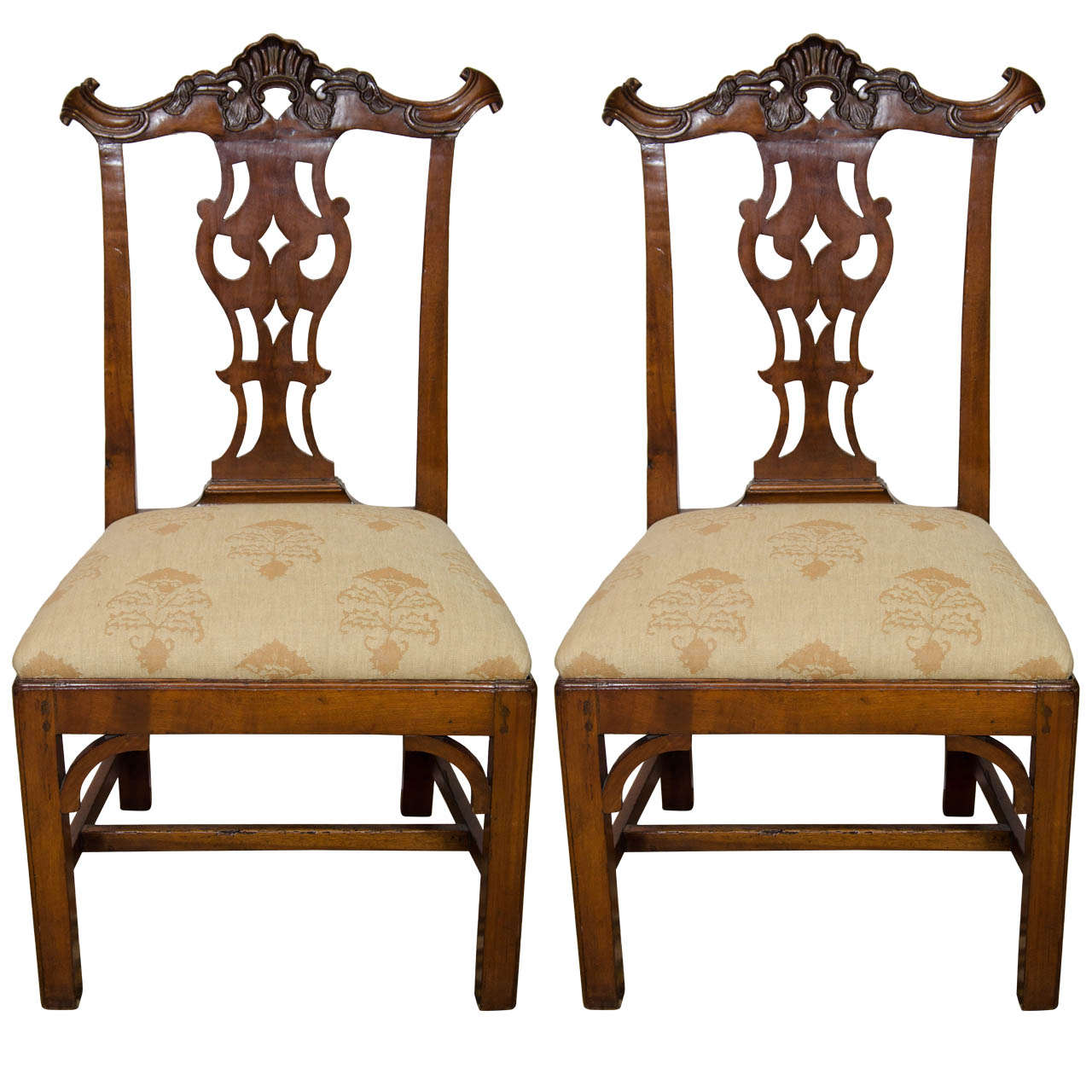 Pair of Portuguese Colonial Side Chairs