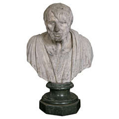 Very Rare George III Lead Portrait Bust of the Philosopher Seneca