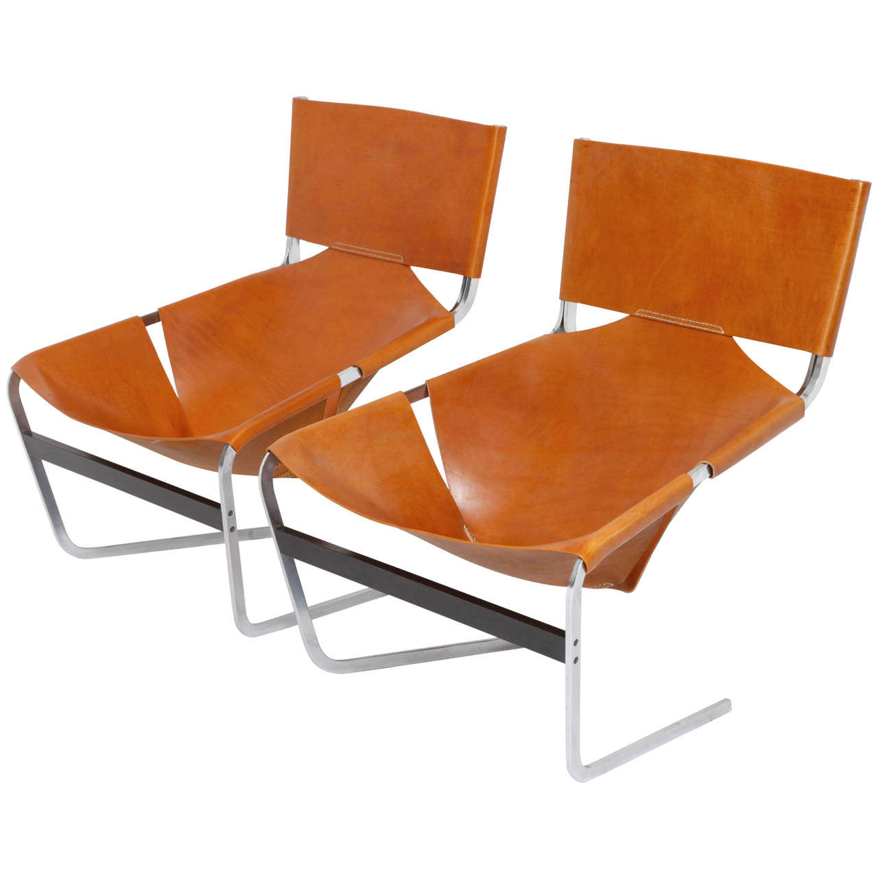Pierre Paulin Pair Of Lounge Chairs F444 At 1stdibs