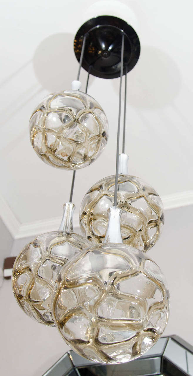 1960s German Globe Glass Fixture 2
