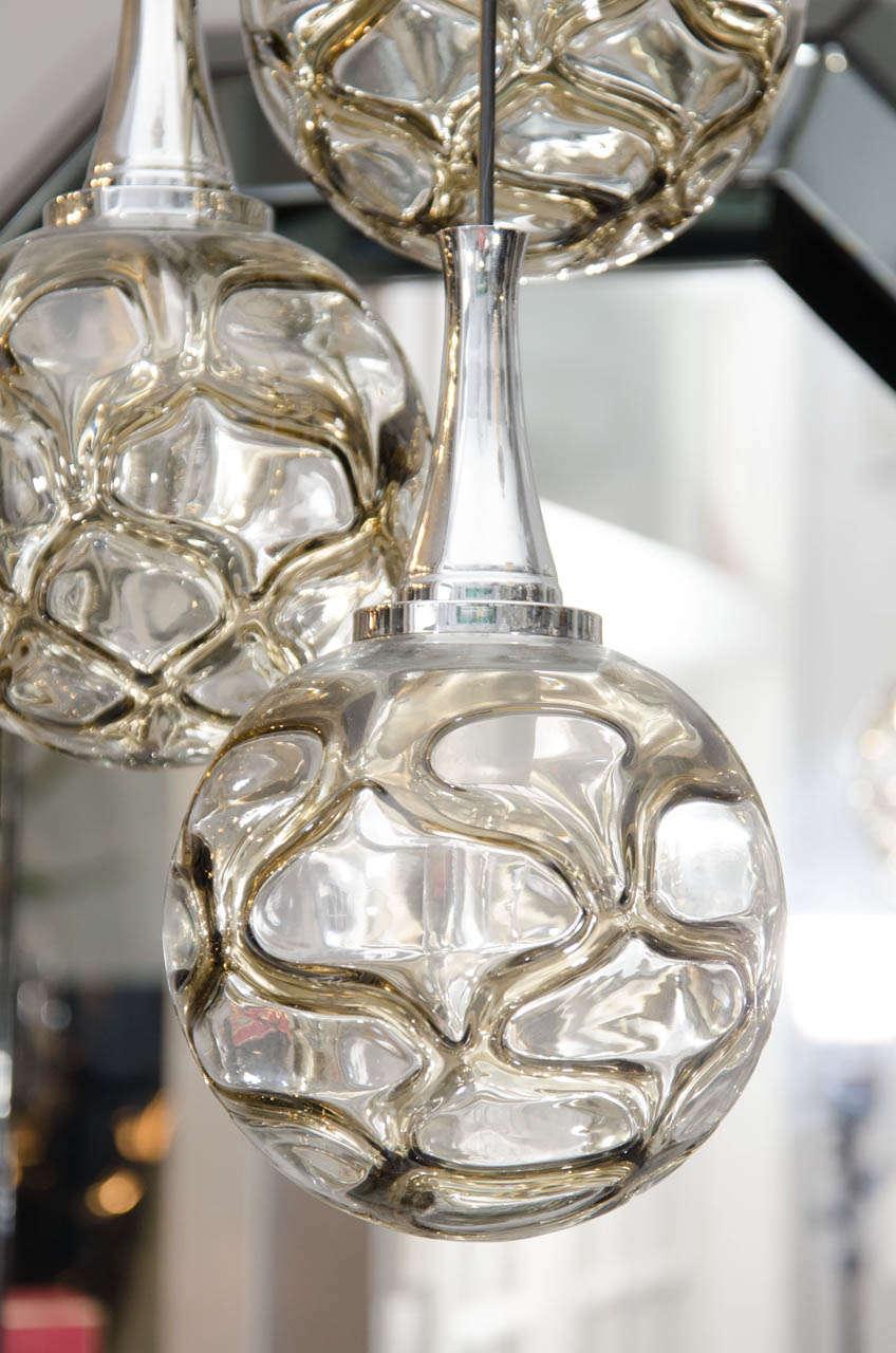 1960s German Globe Glass Fixture 5