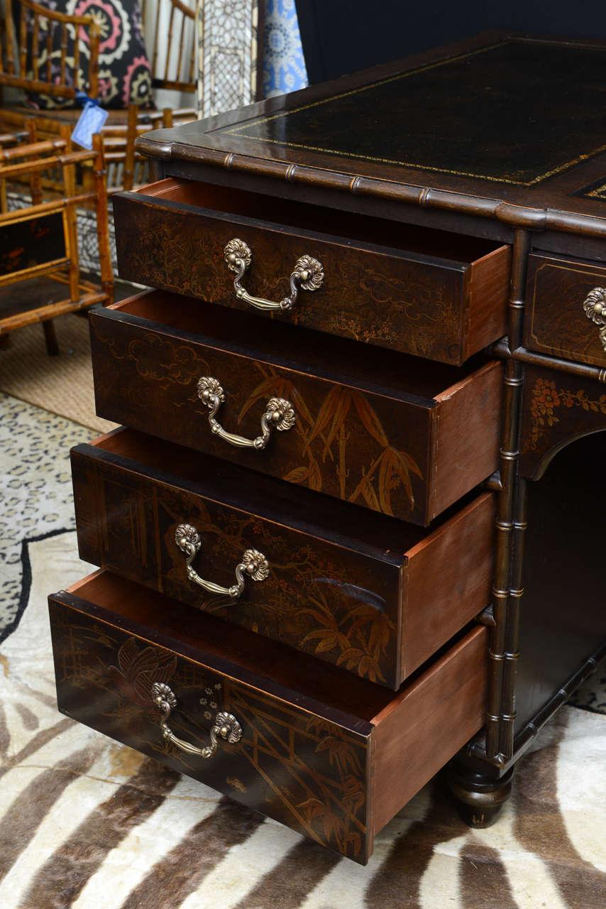 vintage henredon chinoiserie desk at 1stdibs
