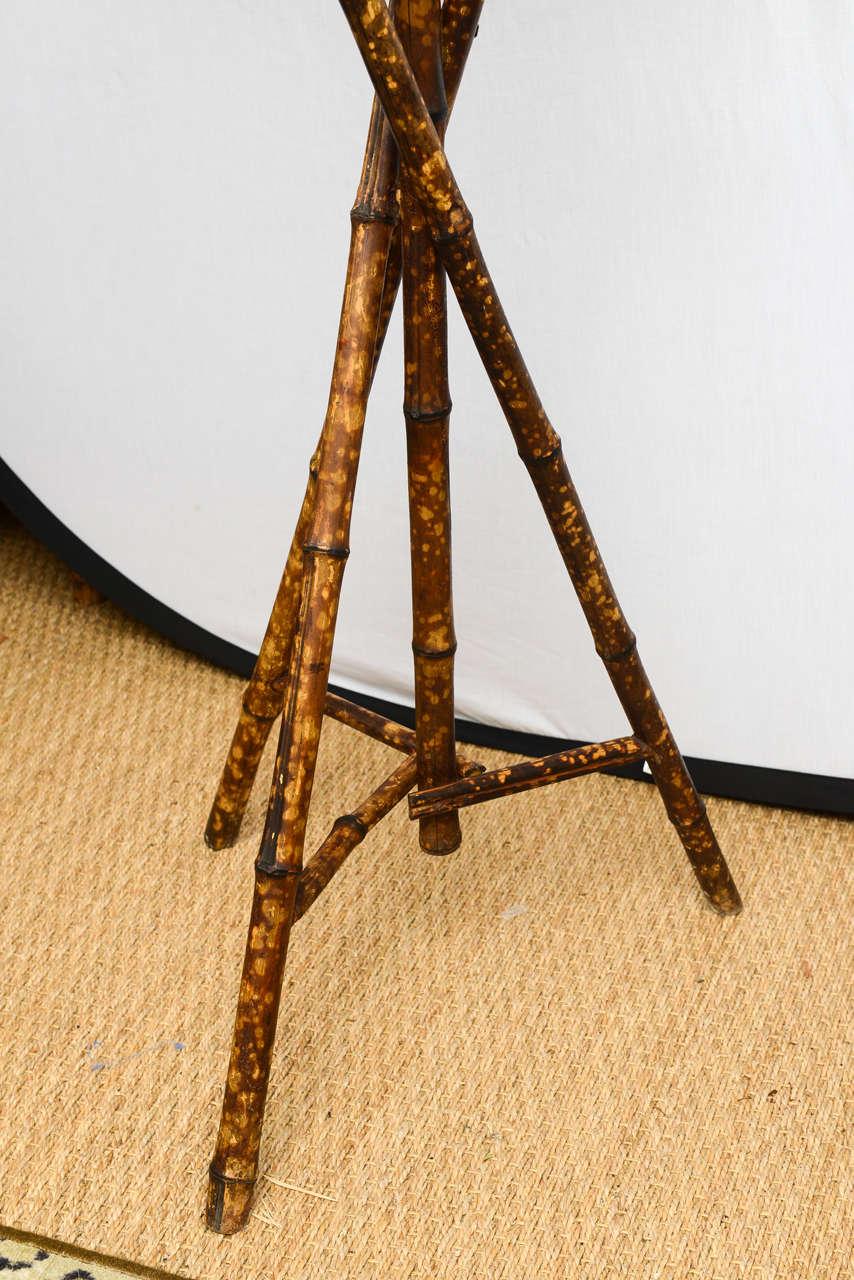 19th Century English Bamboo Bird Cage Stand 4