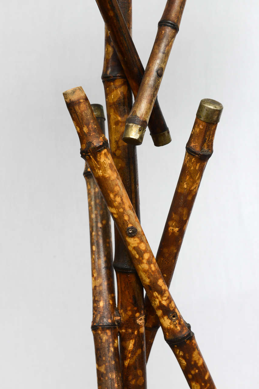 19th Century English Bamboo Bird Cage Stand 7