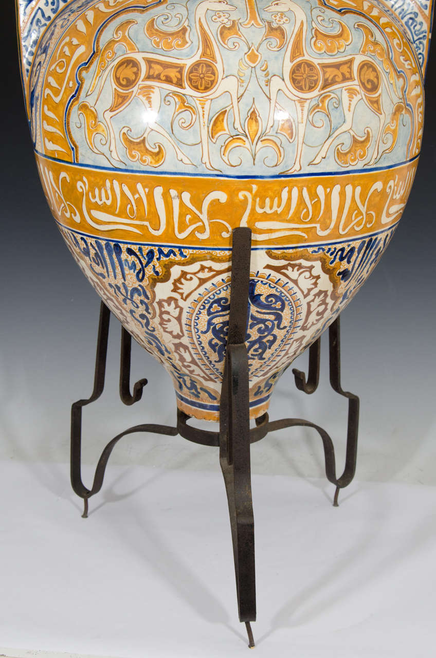 Antique Alhambra Floor Vase By F Jose Mf Martinez At 1stdibs
