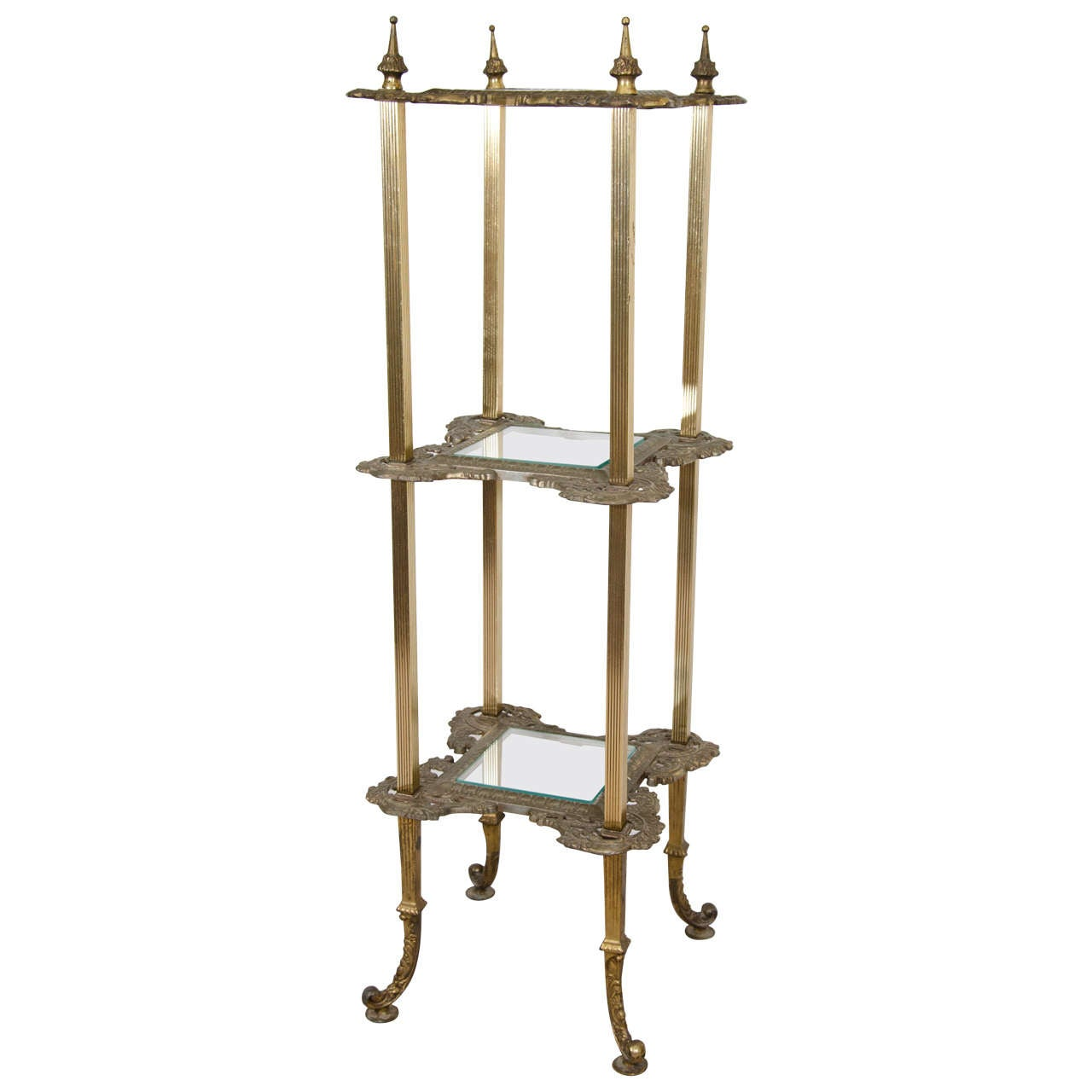 Pedestal Plant Stands ~ Victorian brass and metal plant stand or pedestal at stdibs