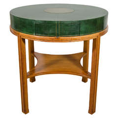 Mid Century Game Table With Whimsical Surface At 1stdibs