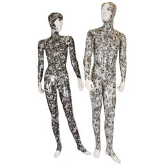 20th Century Set of Male and Female Sculptural Mannequins