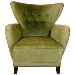 Midcentury Modern Scandinavian Wingback Easy Chair