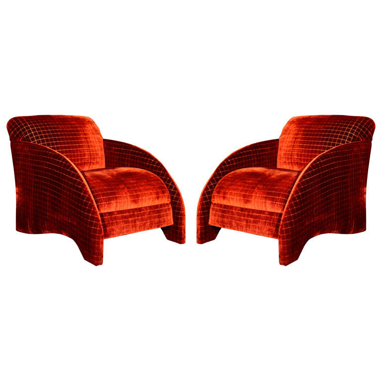 Pair post modern occasional chairs at 1stdibs for Post modern chair