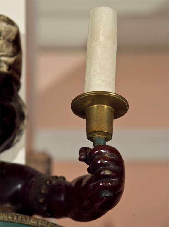 Pair of Blackamoor Wall Sconces at 1stdibs