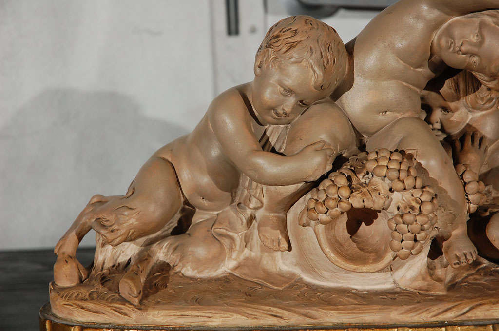 Terracotta Suclptured Figures In Good Condition For Sale In Culver City, CA