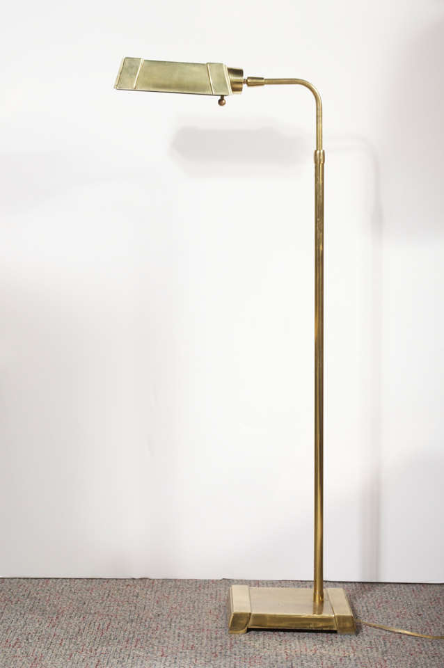 Vintage Heavy Brass Pharmacy Lamp At 1stdibs