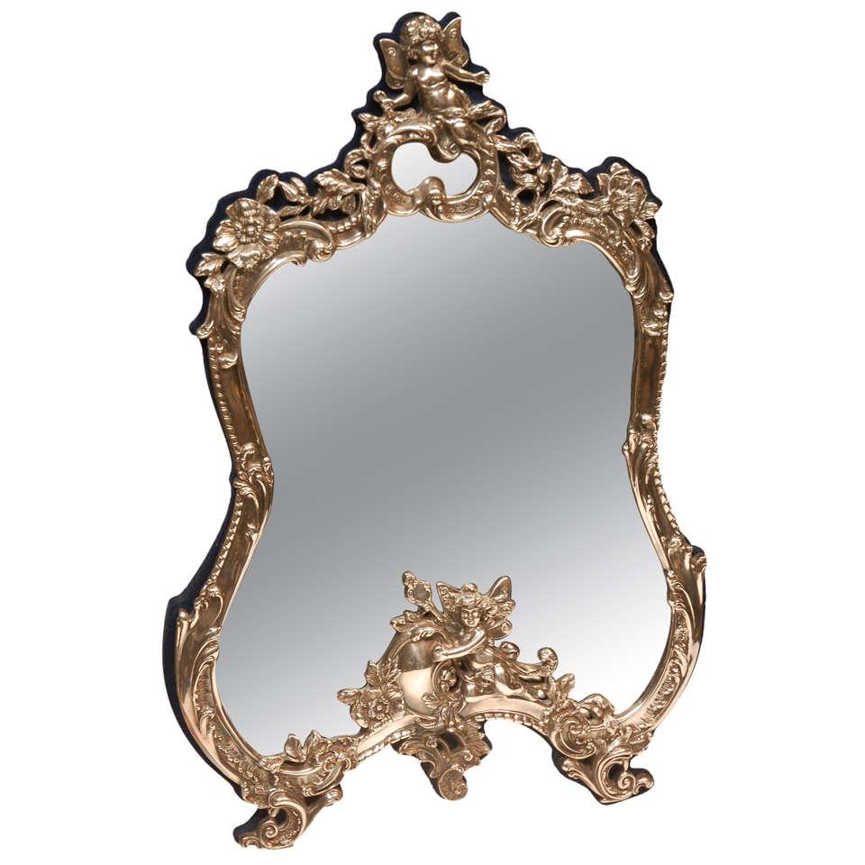 sterling silver vanity mirror at 1stdibs. Black Bedroom Furniture Sets. Home Design Ideas