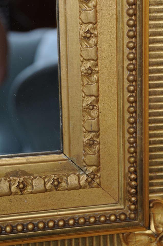 Museum American Gilt Framed Mirror Gold Leaf 19th