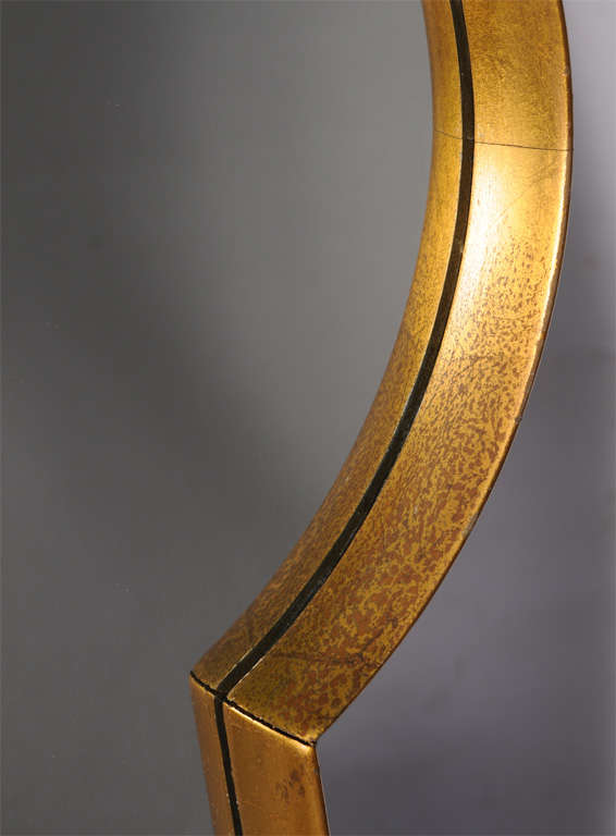 Keyhole Mirror from Estate of Artist Peter Driben In Excellent Condition For Sale In West Palm Beach, FL