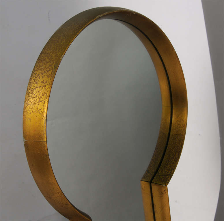 Mid-20th Century Keyhole Mirror from Estate of Artist Peter Driben For Sale