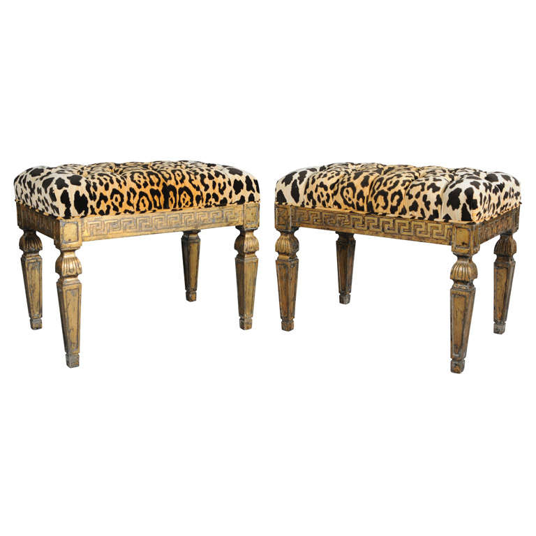 Leopard Bench 28 Images Leopard Upholstered Bench On Brass Casters Chairish Pair Of Gilt