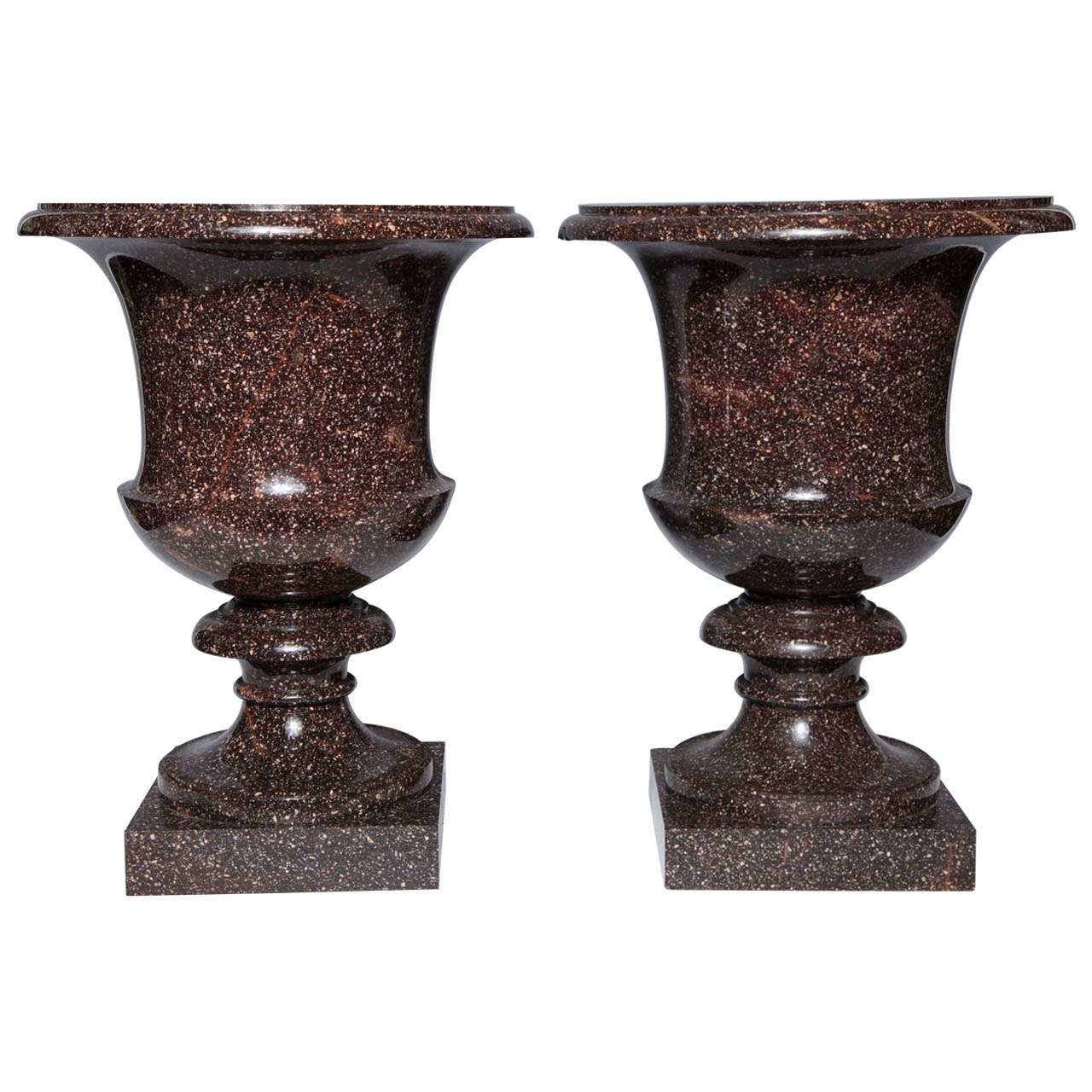 Monumental pair of neoclassical period swedish porphyry campagna monumental pair of neoclassical period swedish porphyry campagna shaped vases for sale reviewsmspy