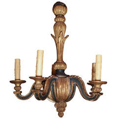 Vintage Carved Wood Chandelier