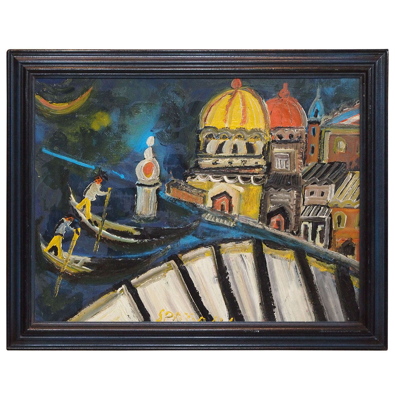 Hardboard Panel For Painting ~ Italian oil on hardboard titled quot venice at stdibs