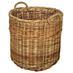 Very Large French Wicker Basket