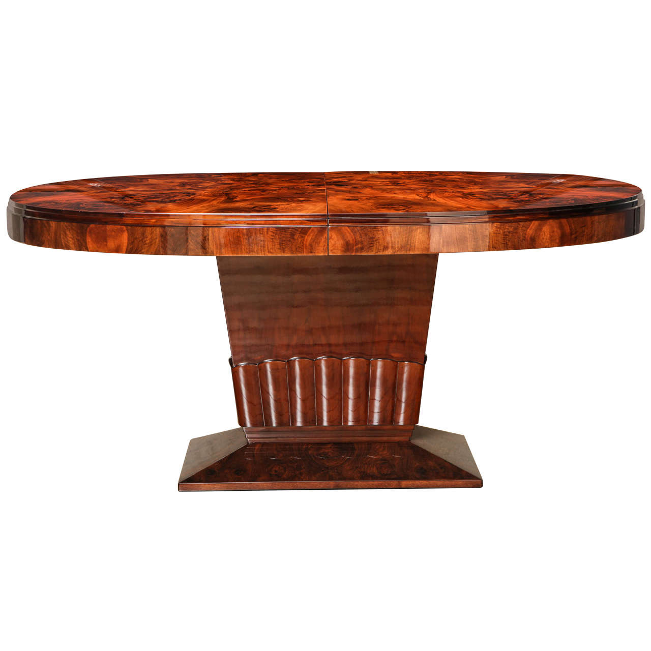 Oval art deco dining table at 1stdibs for Art dining room furniture