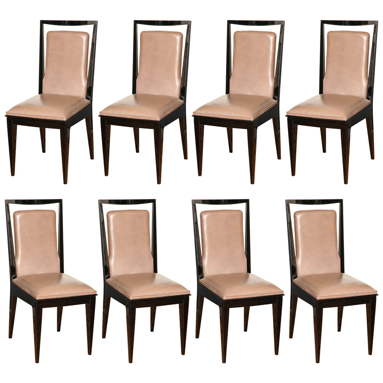 Fabulous Suite Of Eight Modernist Dining Chairs At 1stdibs