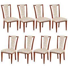 Elegant Suite of Eight Dining Chairs