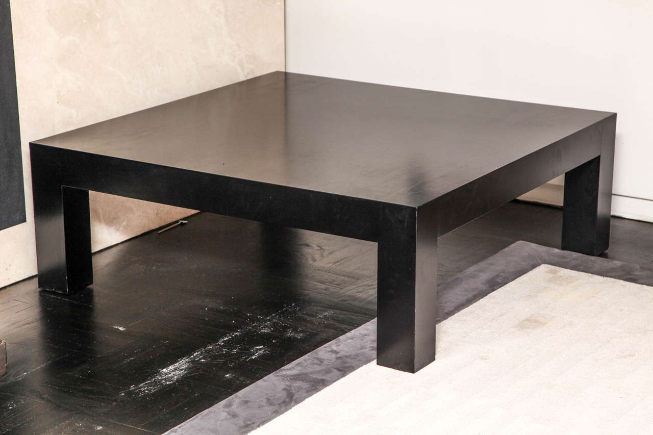 Ebonized Oak Square Coffee Table At 1stdibs