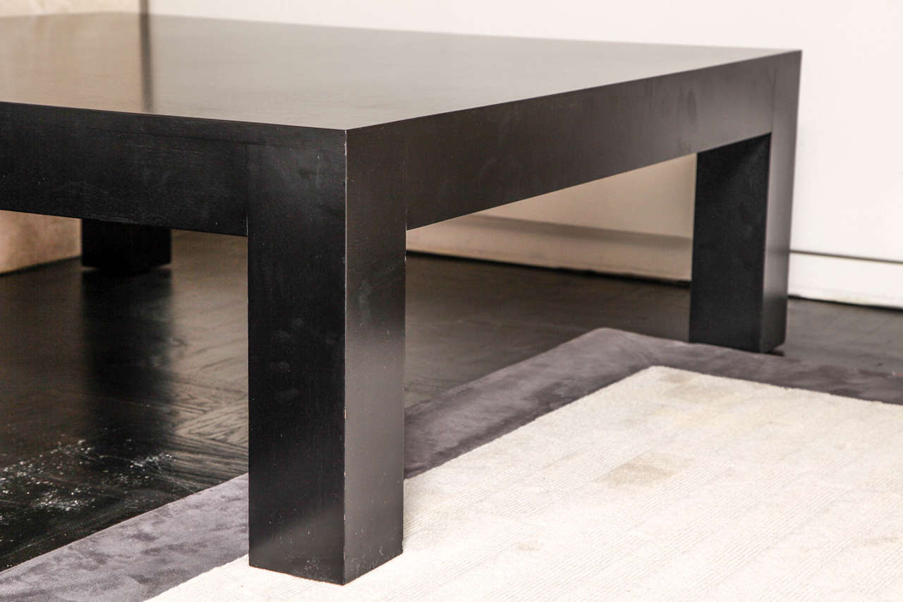 Parsons Style Ebonized Oak Square Coffee Table For Sale At 1stdibs