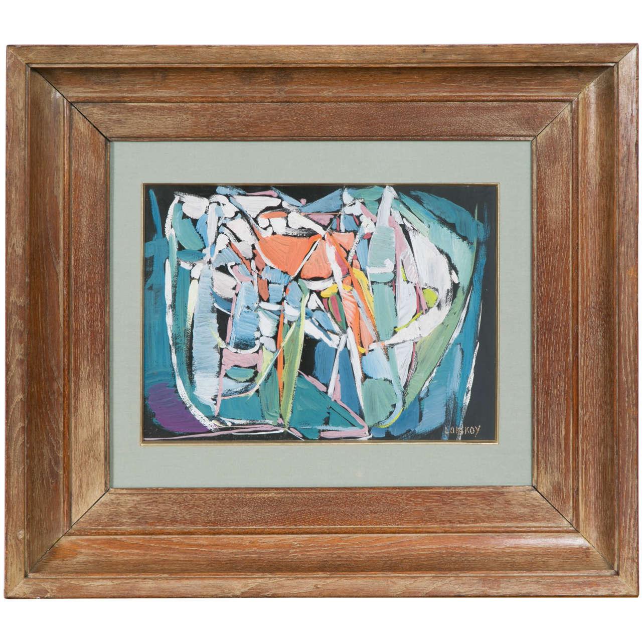 André Lanskoy Gouache Painting Composition