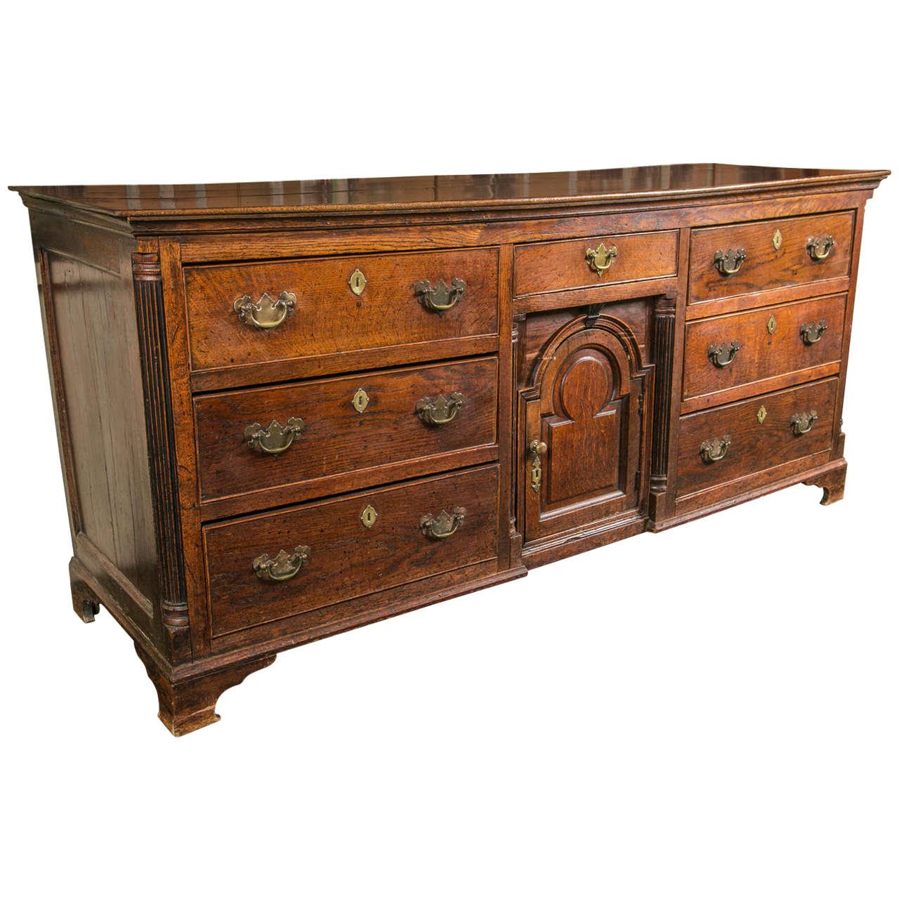 English Oak George II Dresser Base