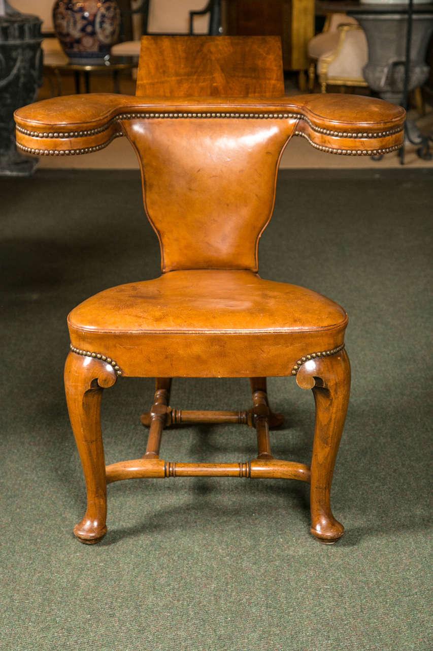 Georgian 19th Century English Reading Chair For Sale - 19th Century English Reading Chair For Sale At 1stdibs