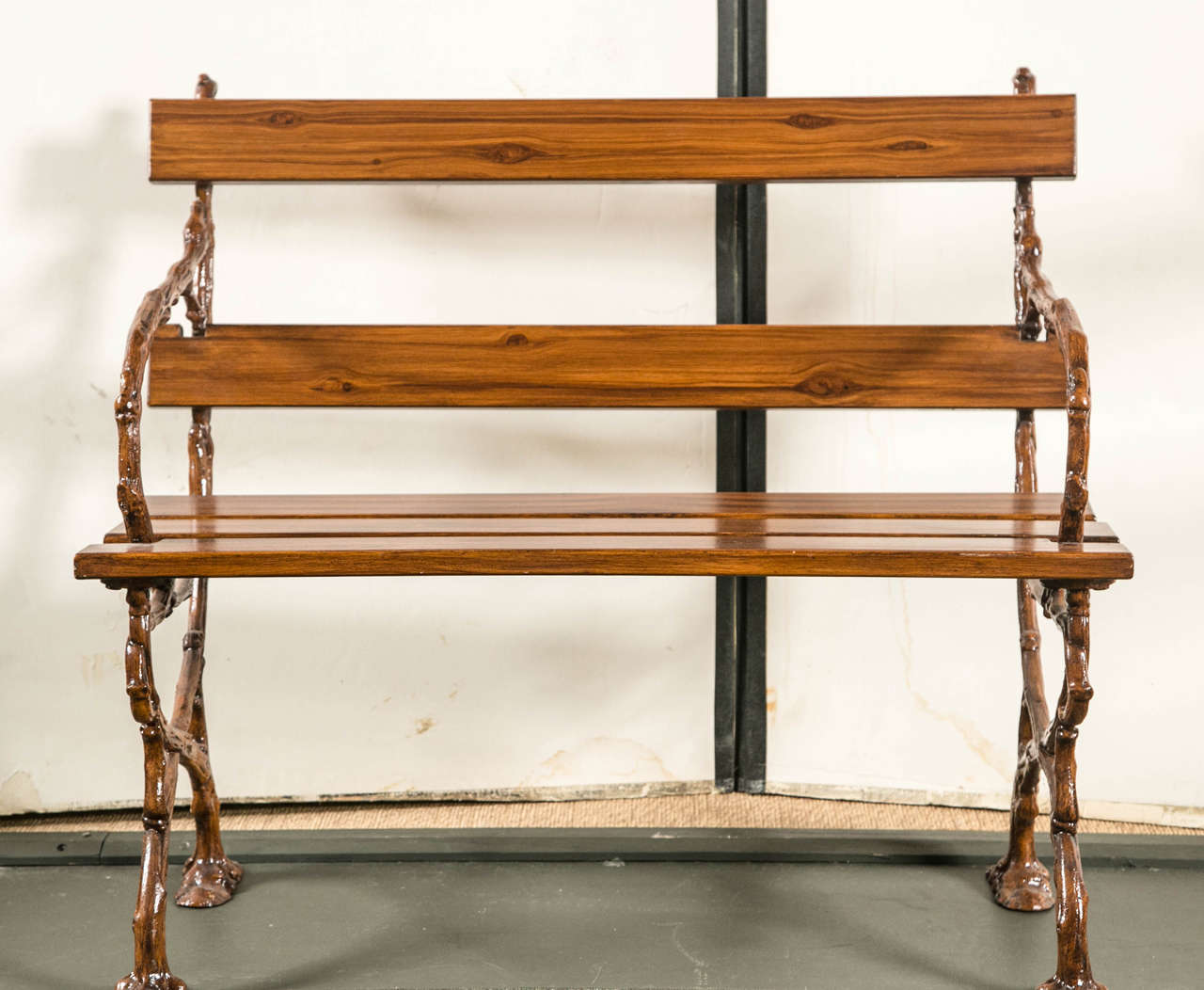 Cast Of Benched : French cast iron bench for sale at stdibs