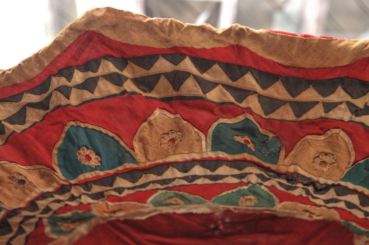 Moroccan Brightly Stitched Umbrella 1