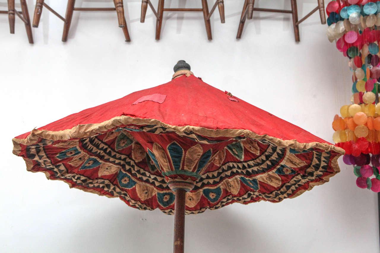 Moroccan Brightly Stitched Umbrella 2