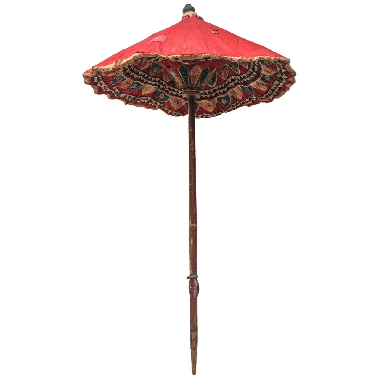 Moroccan Brightly Stitched Umbrella